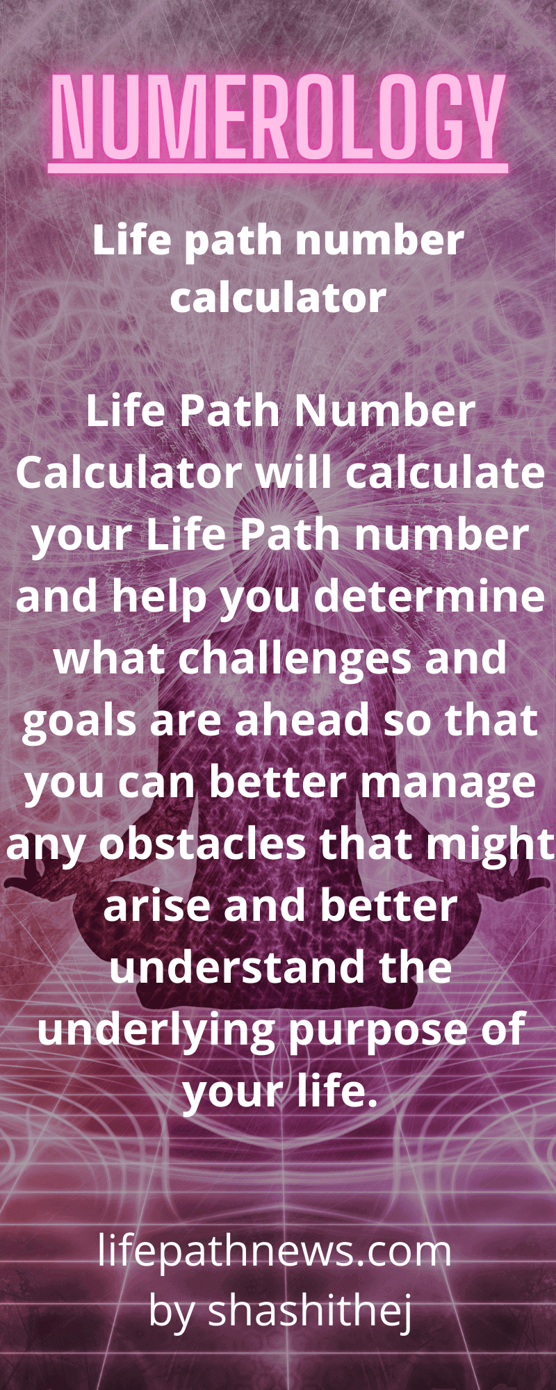 Numerology life path number calculator
